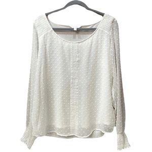 Lauren Conrad Long Sleeve Embroidered Blou…